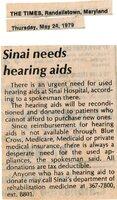 Sinai Needs Hearing Aids