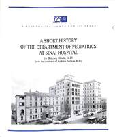 A Short History of the Department of Pediatrics