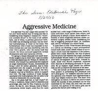 Aggressive Medicine
