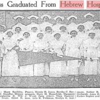 Class Graduated from Hebrew Hospital