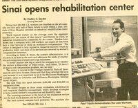 Sinai Opens Rehabilitation Center