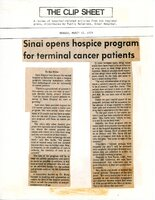 Sinai Opens Hospice Program for Terminal Cancer Patients
