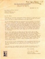 War Relocation Authority Letter on Japanese American Placements