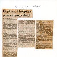 Hopkins, 3 Hospitals Plan Nursing School