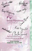 Program from Grand Opening of Lapidus Cancer Institute at Sinai
